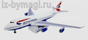 Боинг 747 из бумаги