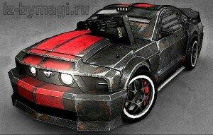 Форд Мустанг из бумаги