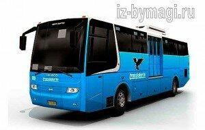 Автобус из бумаги