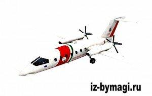 Модель самолета Piaggio P180 Avanti из бумаги