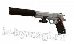 Пистолет Хитмена из бумаги