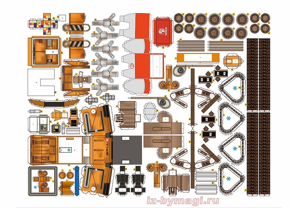 Робот Валли из бумаги - Wall-E from paper