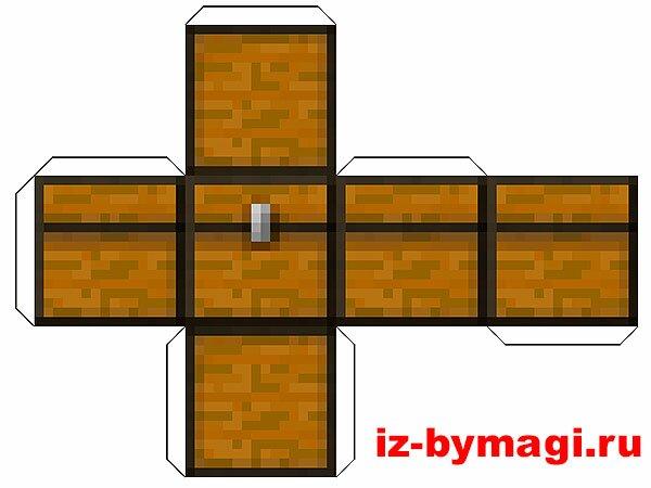 Minecraft из бумаги - Сундук