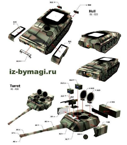 Инструкция по склеиванию танка Скорпион из бумаги 2 (paper tank Scorpion)