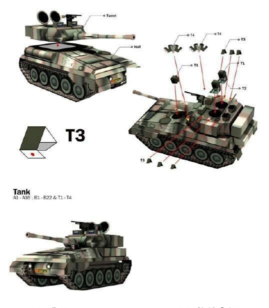 Инструкция по склеиванию танка Скорпион из бумаги 3 (paper tank Scorpion)