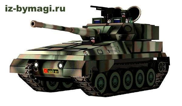 Танк Скорпион из бумаги (Tank Scorpion from paper)