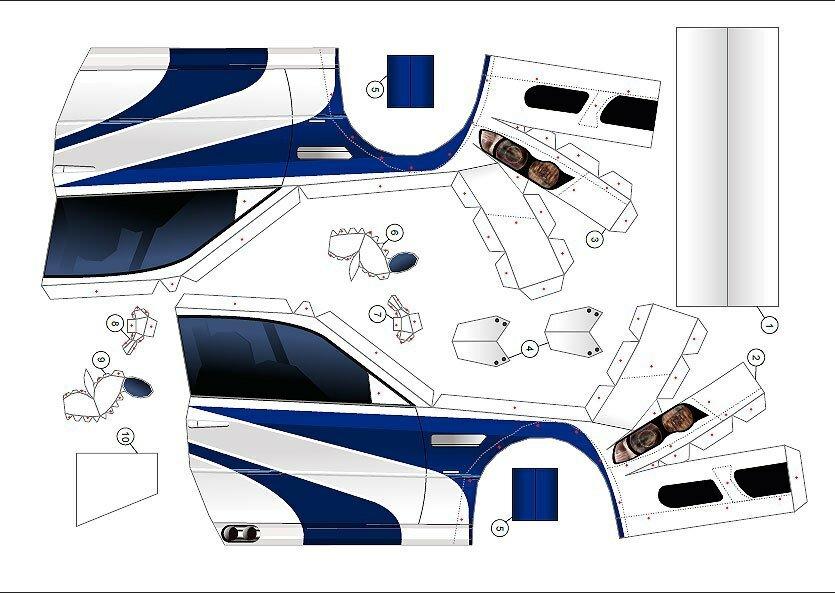 Схемы для склеивания BMW m3 GTR из бумаги №1 (paper model BMW m3 GTR)