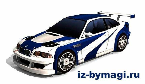 BMW м3 GTR из бумаги