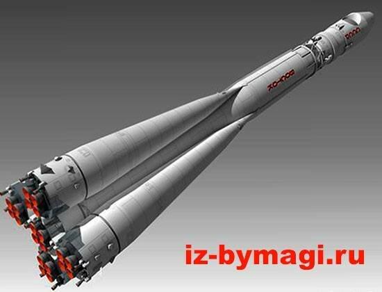 Ракета «Восток 1» из бумаги