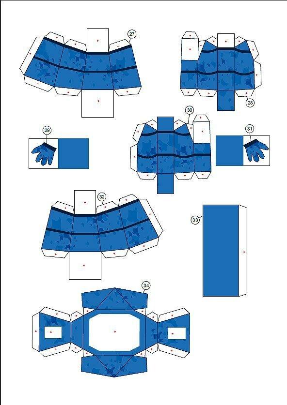 Животные из бумаги - Схемы зайца из бумаги №2