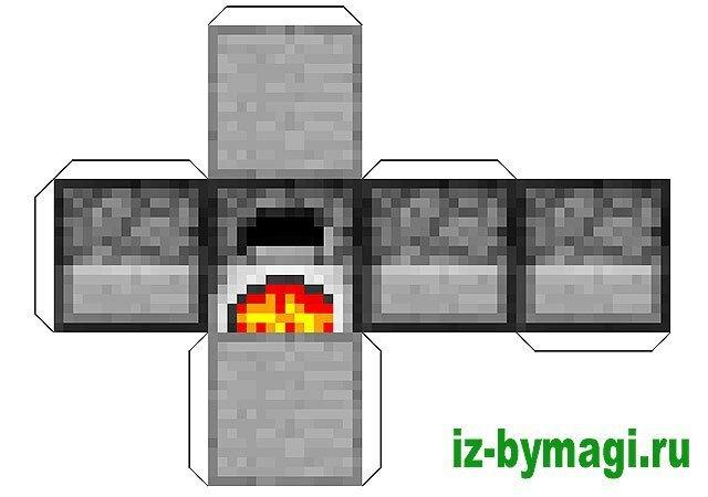 Minecraft из бумаги - Развертка блока печь (minecraft from paper)