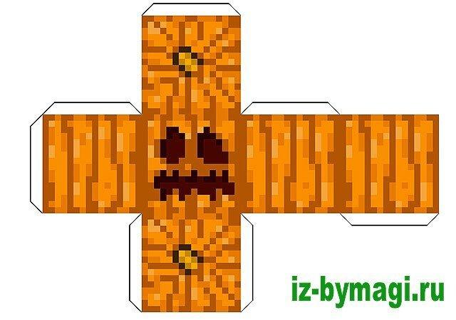 Minecraft из бумаги ч.2